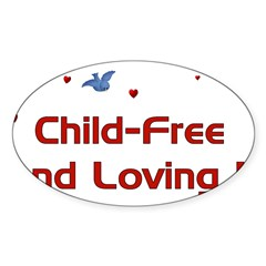 Child Free Sticker (Oval 50 pk)