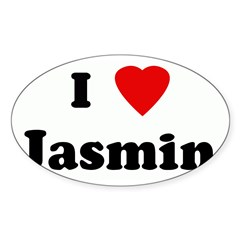 I Love Jasmin Sticker (Oval 50 pk)