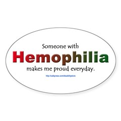 Hemophilia Pride Rectangle Sticker (Oval 50 pk)