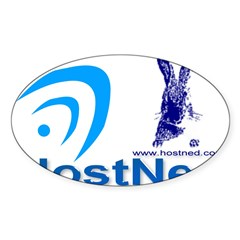 HostNed Rectangle Sticker (Oval 50 pk)