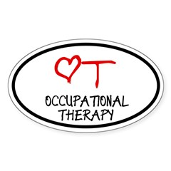 Occupational Therapy Heart Oval Sticker (Oval 50 pk)