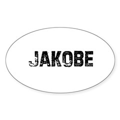 Jakobe Rectangle Sticker (Oval 50 pk)