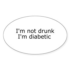 Diabetic Info Rectangle Sticker (Oval 50 pk)