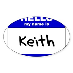 hello my name is keith Rectangle Sticker (Oval 50 pk)