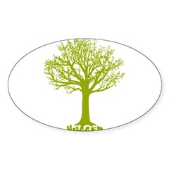 TREE hugger (lime) Rectangle Sticker (Oval 50 pk)