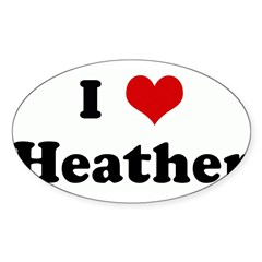 I Love Heather Sticker (Oval 50 pk)