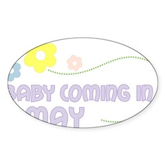 Due in May Rectangle Sticker (Oval 50 pk)