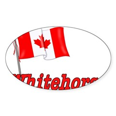 Canada Flag - Whitehorse Rectangle Sticker (Oval 50 pk)