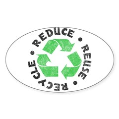 Recycle! Rectangle Sticker (Oval 50 pk)