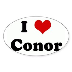 I Love Conor Sticker (Oval 50 pk)