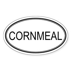 CORNMEAL (oval) Oval Sticker (Oval 50 pk)