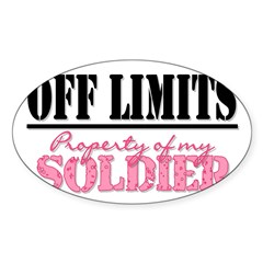 property of my soldier Rectangle Sticker (Oval 50 pk)