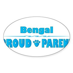 Bengal Parent Rectangle Sticker (Oval 50 pk)