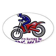 ...Riding My Bike... Rectangle Sticker (Oval 50 pk)