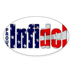 Proud Infidel Rectangle Sticker (Oval 50 pk)