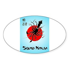 Squid Ninja Sticker (Oval 50 pk)