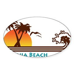 Virginia Beach Rectangle Sticker (Oval 50 pk)