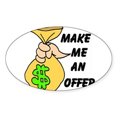 MAKE AN OFFER Rectangle Sticker (Oval 50 pk)