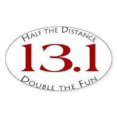 13.1 - Half the Distance Oval Sticker (Oval 50 pk)
