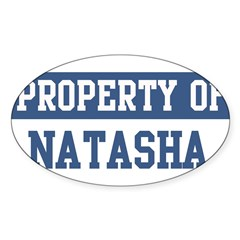 Property of NATASHA Sticker (Oval 50 pk)