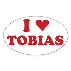 I LOVE TOBIAS Sticker (Oval 50 pk)