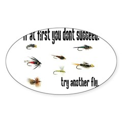 If at first you dont succeed, Sticker (Rectangular Sticker (Oval 50 pk)