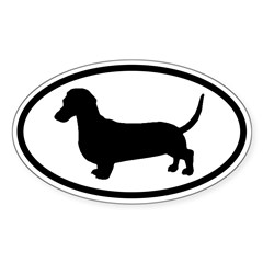 Dachshund Oval Sticker (Oval 50 pk)