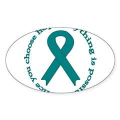 Teal Hope Oval Sticker (Oval 50 pk)