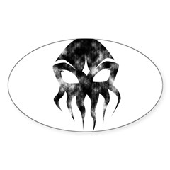 Cthulhu (distressed) Rectangle Sticker (Oval 50 pk)