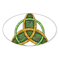 Celtic Trinity Knot Rectangle Sticker (Oval 50 pk)