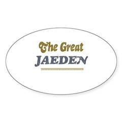 Jaeden Rectangle Sticker (Oval 50 pk)