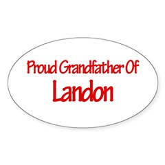 Proud Grandfather of Landon Sticker (Oval 50 pk)