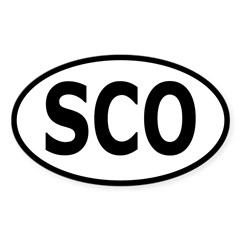Scotland Oval Sticker (Oval 50 pk)