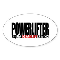 POWERLIFTER Rectangle Sticker (Oval 50 pk)