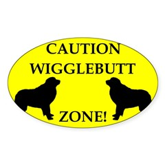 Wigglebutt Zone Sticker (Oval 50 pk)