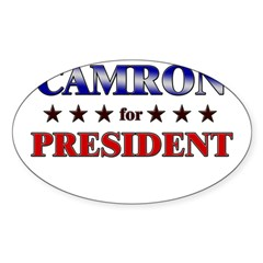 CAMRON for president Rectangle Sticker (Oval 50 pk)