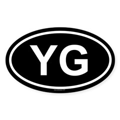 YG Oval Sticker (Oval 50 pk)