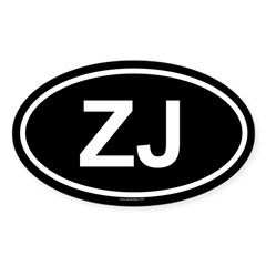 ZJ Oval Sticker (Oval 50 pk)