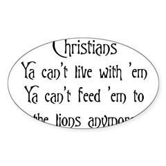 Christians Rectangle Sticker (Oval 50 pk)