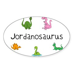 Jordanosaurus Rectangle Sticker (Oval 50 pk)