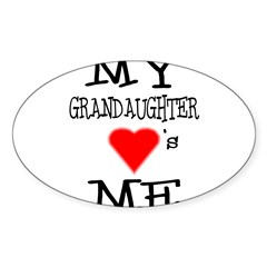 My Grandaughter Loves Me Rectangle Sticker (Oval 50 pk)