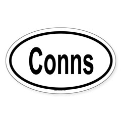 CONNS Oval Sticker (Oval 50 pk)