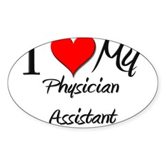 I Heart My Physician Assistant Sticker (Rectangula Sticker (Oval 50 pk)