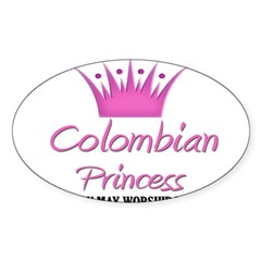 Colombian Princess Rectangle Sticker (Oval 50 pk)