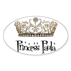 Princess Paula Rectangle Sticker (Oval 50 pk)