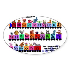 Alphabet Train Rectangle Sticker (Oval 50 pk)