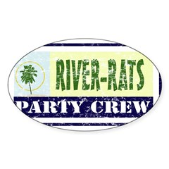 River Rat Rectangle Sticker (Oval 50 pk)