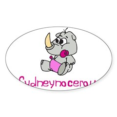 Sydneynocerous Rectangle Sticker (Oval 50 pk)