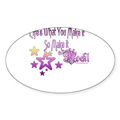Life's What You make it Rectangle Sticker (Oval 50 pk)