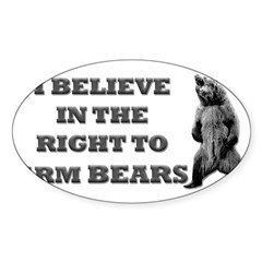 Right To Arm Bears Rectangle Sticker (Oval 50 pk)